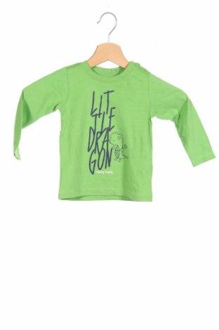 Детска блуза Schiesser, Размер 9-12m/ 74-80 см, Цвят Зелен, Памук, Цена 24,00лв.