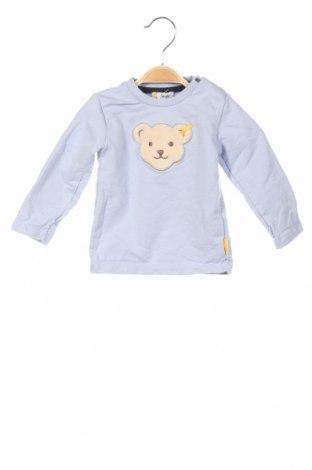 Bluză de copii Steiff, Mărime 9-12m/ 74-80 cm, Culoare Albastru, 100% bumbac, Preț 63,16 Lei