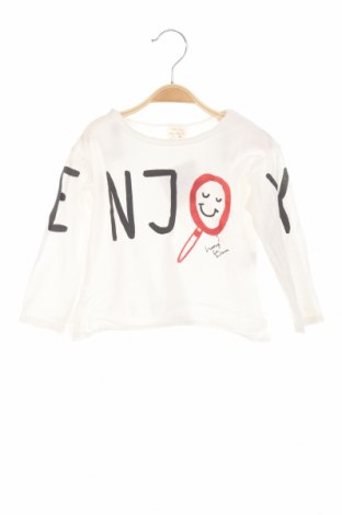 Bluză de copii Zara, Mărime 12-18m/ 80-86 cm, Culoare Alb, Bumbac, Preț 49,26 Lei