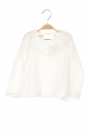 Bluză de copii Zara, Mărime 18-24m/ 86-98 cm, Culoare Alb, Bumbac, Preț 47,37 Lei