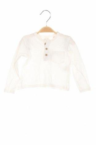 Bluză de copii Zara, Mărime 3-6m/ 62-68 cm, Culoare Alb, Bumbac, Preț 47,37 Lei