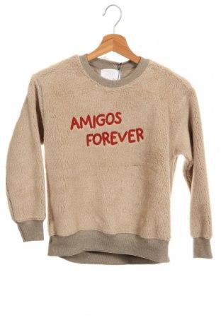 Детска блуза Zara, Размер 8-9y/ 134-140 см, Цвят Бежов, 60% полиестер, 40% акрил, Цена 26,60лв.