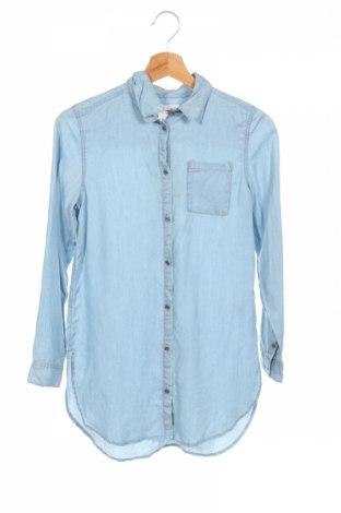 Dziecięca koszula H&M L.o.g.g, Rozmiar 10-11y/ 146-152 cm, Kolor Niebieski, Tencel, Cena 64,68zł