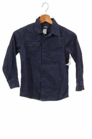 Детска риза Oshkosh, Размер 6-7y/ 122-128 см, Цвят Син, Памук, Цена 30,42лв.