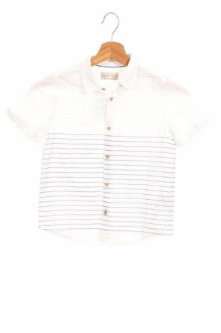 Детска риза Zara, Размер 6-7y/ 122-128 см, Цвят Бял, Памук, Цена 18,90лв.