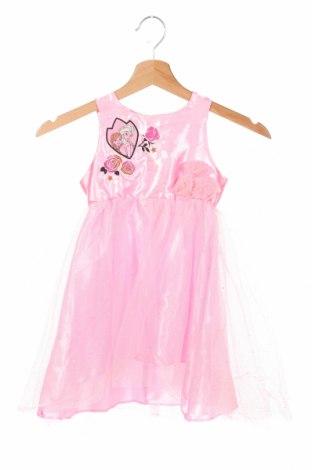 Detské šaty , Veľkosť 2-3y/ 98-104 cm, Farba Ružová, Polyester, Cena  20,10€