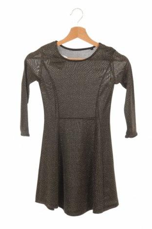 Detské šaty  Here+There, Veľkosť 8-9y/ 134-140 cm, Farba Zlatistá, 89% polyester, 5% elastan, 3% vlákna , 3% polyamide, Cena  18,14€