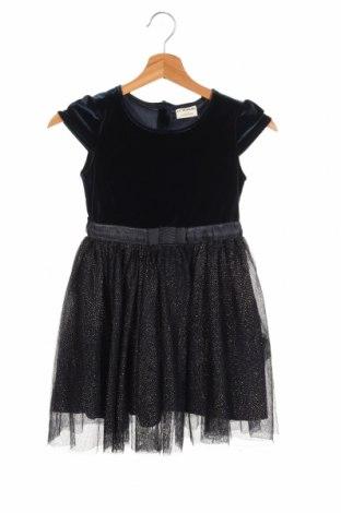 Детска рокля LC Waikiki, Размер 5-6y/ 116-122 см, Цвят Син, 91% полиестер, 9% еластан, Цена 22,00лв.