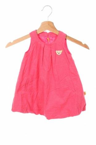 Detské šaty  Steiff, Veľkosť 9-12m/ 74-80 cm, Farba Ružová, Bavlna, Cena  14,30€