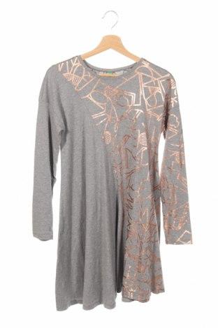 Detské šaty  United Colors Of Benetton, Veľkosť 14-15y/ 168-170 cm, Farba Sivá, Bavlna, Cena  13,61€