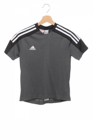 Детска тениска Adidas, Размер 11-12y/ 152-158 см, Цвят Сив, 55% полиестер, 45% полиамид, Цена 30,24лв.