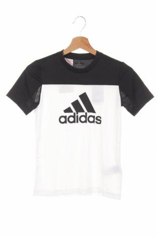 Детска тениска Adidas, Размер 9-10y/ 140-146 см, Цвят Черен, Полиестер, Цена 30,24лв.