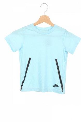 Детска тениска Nike, Размер 6-7y/ 122-128 см, Цвят Син, 50% полиестер, 25% вискоза, 25% памук, Цена 30,24лв.