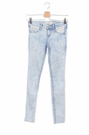 Dětské džíny  Abercrombie Kids, Rozměr 14-15y/ 168-170 cm, Barva Modrá, 78% bavlna, 21% polyester, 1% elastan, Cena  657,00Kč