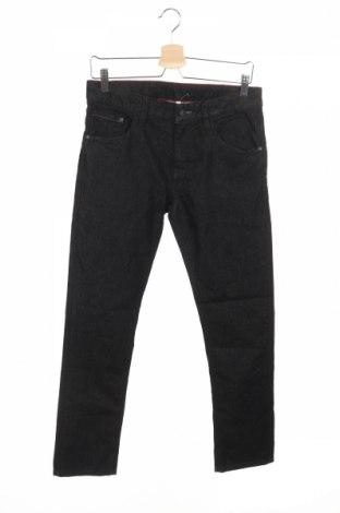 Dziecięce jeansy C&A, Rozmiar 13-14y/ 164-168 cm, Kolor Czarny, 76% bawełna, 24% poliester, Cena 61,20zł