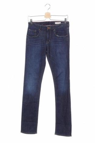 Blugi de copii H&M, Mărime 14-15y/ 168-170 cm, Culoare Albastru, 98% bumbac, 2% elastan, Preț 81,23 Lei