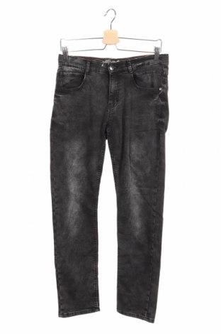Dziecięce jeansy Lemmi, Rozmiar 12-13y/ 158-164 cm, Kolor Szary, 93% bawełna, 6% poliester, 1% elastyna, Cena 88,80zł