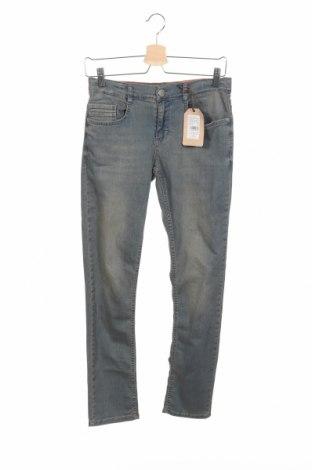 Dziecięce jeansy Lemmi, Rozmiar 8-9y/ 134-140 cm, Kolor Niebieski, 97% bawełna, 3% elastyna, Cena 96,20zł