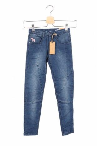 Dziecięce jeansy Noppies, Rozmiar 7-8y/ 128-134 cm, Kolor Niebieski, 98% bawełna, 2% elastyna, Cena 172,50zł