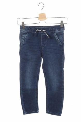 Dziecięce jeansy Sanetta, Rozmiar 4-5y/ 110-116 cm, Kolor Niebieski, 87% bawełna, 12% poliester, 1% elastyna, Cena 96,20zł