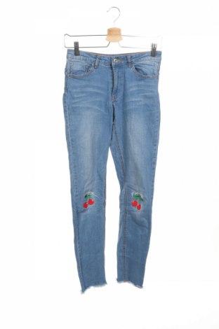 Dziecięce jeansy Wow, Rozmiar 12-13y/ 158-164 cm, Kolor Niebieski, 99% bawełna, 1% elastyna, Cena 51,30zł