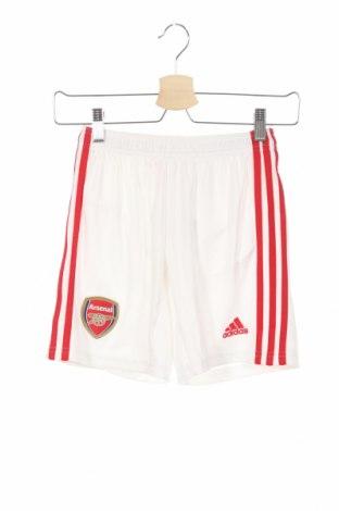 Pantaloni scurți de copii Adidas, Mărime 9-10y/ 140-146 cm, Culoare Alb, Poliester, Preț 92,84 Lei