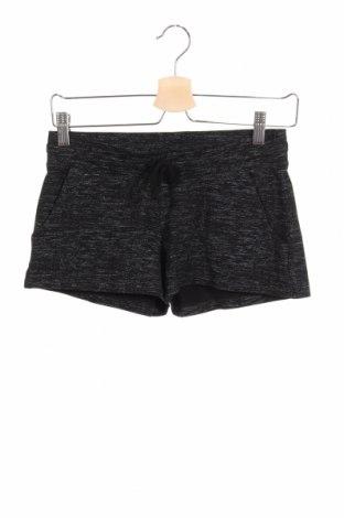 Pantaloni scurți de copii H&M, Mărime 12-13y/ 158-164 cm, Culoare Negru, 97% bumbac, 3% elastan, Preț 57,89 Lei