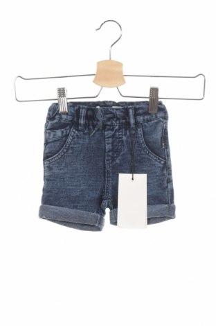 Pantaloni scurți de copii Name It, Mărime 9-12m/ 74-80 cm, Culoare Albastru, 82% bumbac, 14% poliester, 4% elastan, Preț 73,00 Lei