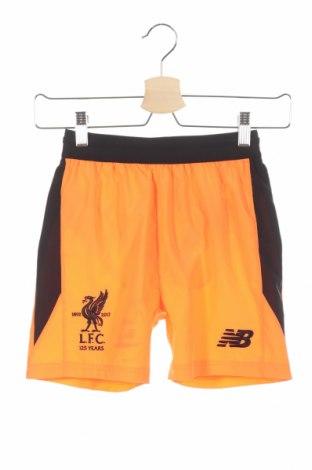 Pantaloni scurți de copii New Balance, Mărime 6-7y/ 122-128 cm, Culoare Portocaliu, Poliester, Preț 79,58 Lei