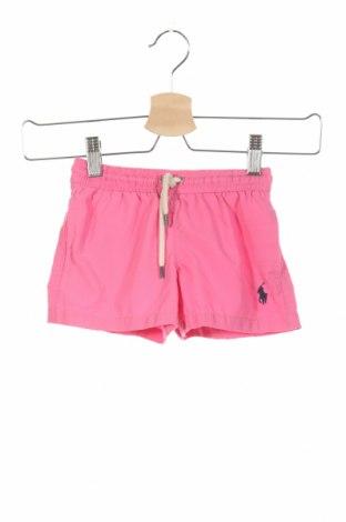 Pantaloni scurți de copii Polo By Ralph Lauren, Mărime 18-24m/ 86-98 cm, Culoare Roz, Poliester, Preț 99,89 Lei