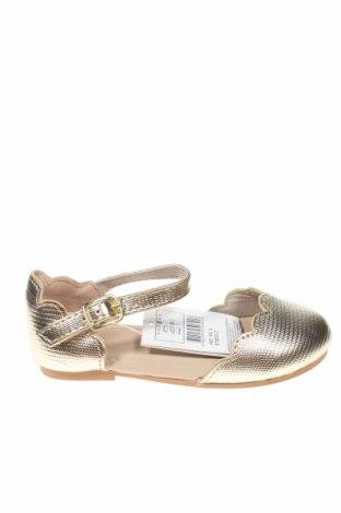 Detské topánky  ZY kids, Veľkosť 22, Farba Zlatistá, Eko koža , Cena  13,36€