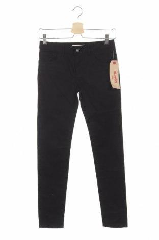 Pantaloni de copii Levi's, Mărime 11-12y/ 152-158 cm, Culoare Negru, 98% bumbac, 2% elastan, Preț 149,68 Lei
