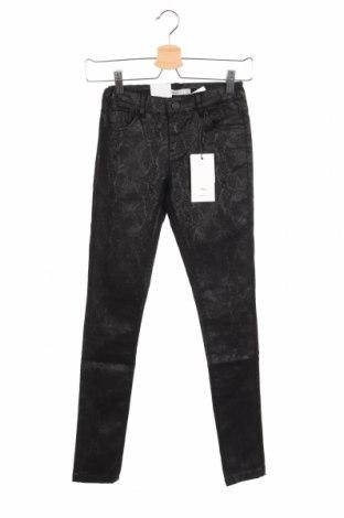 Pantaloni de copii Name It, Mărime 9-10y/ 140-146 cm, Culoare Negru, 28% poliester, 48% bumbac, 22% viscoză, 2% elastan, Preț 92,84 Lei