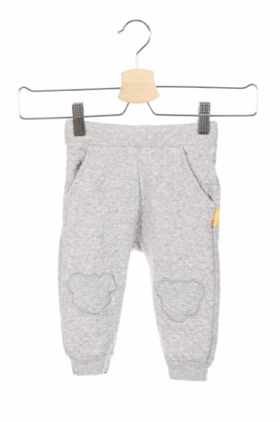 Pantaloni de copii Steiff, Mărime 6-9m/ 68-74 cm, Culoare Gri, 74% bumbac, 26% poliester, Preț 60,63 Lei