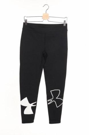 Damskie sportowe legginsy Under Armour, Rozmiar 15-18y/ 170-176 cm, Kolor Czarny, 58% bawełna, 32% poliester, 10% elastyna, Cena 101,75zł