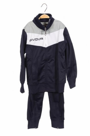 Детски спортен комплект Givova, Размер 7-8y/ 128-134 см, Цвят Син, Полиестер, Цена 64,08лв.