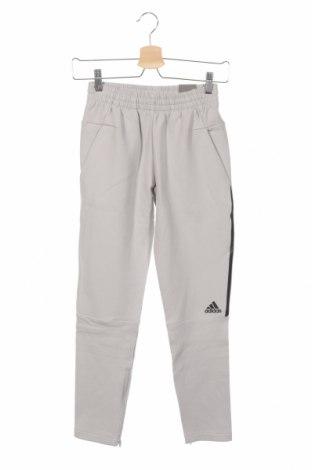 Dziecięce spodnie sportowe Adidas, Rozmiar 9-10y/ 140-146 cm, Kolor Szary, 80% bawełna, 15% poliester, 5% elastyna, Cena 94,35zł