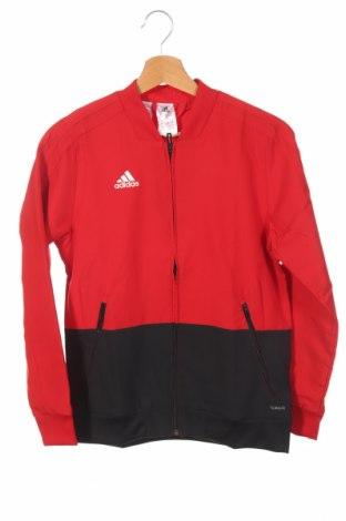 Παιδικό αθλητικό πάνω φόρμα Adidas, Μέγεθος 11-12y/ 152-158 εκ., Χρώμα Κόκκινο, 100% πολυεστέρας, Τιμή 7,89€