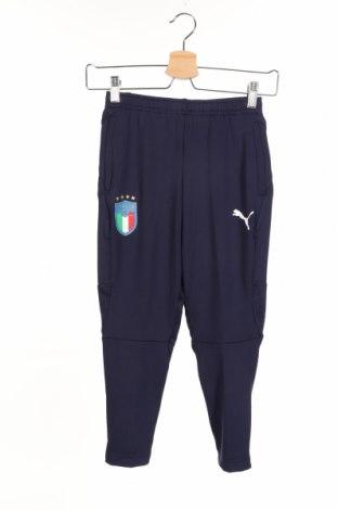 Pantaloni trening de copii PUMA, Mărime 7-8y/ 128-134 cm, Culoare Albastru, 90% poliester, 10% elastan, Preț 77,68 Lei