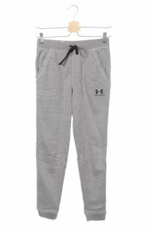 Dziecięce spodnie sportowe Under Armour, Rozmiar 13-14y/ 164-168 cm, Kolor Szary, 54% bawełna, 46% poliester, Cena 109,15zł