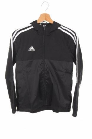 Detská športová bunda  Adidas, Veľkosť 11-12y/ 152-158 cm, Farba Čierna, Polyester, Cena  33,03€