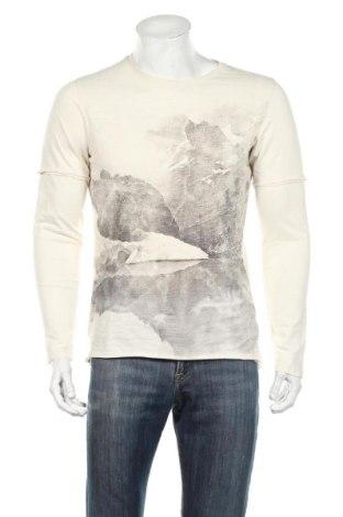 Ανδρική μπλούζα S.Oliver, Μέγεθος M, Χρώμα Εκρού, Βαμβάκι, Τιμή 11,46€