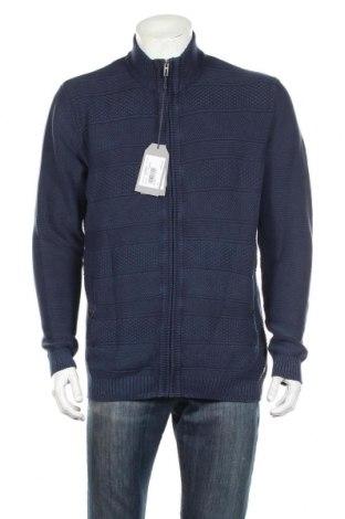 Pánsky kardigán Pioneer, Veľkosť XL, Farba Modrá, Bavlna, Cena  33,03€