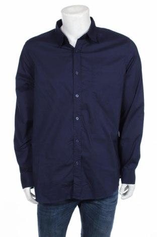 Мъжка риза 21 Men, Размер XL, Цвят Син, Памук, Цена 29,84лв.
