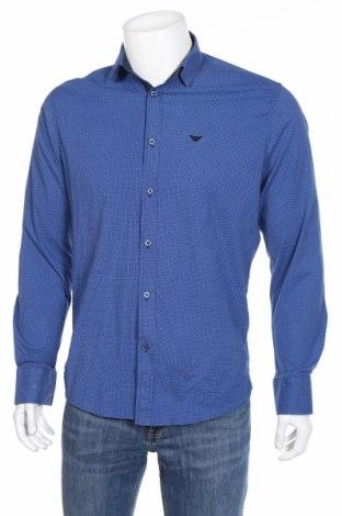 Ανδρικό πουκάμισο Armani Jeans, Μέγεθος M, Χρώμα Μπλέ, Βαμβάκι, Τιμή 45,82€