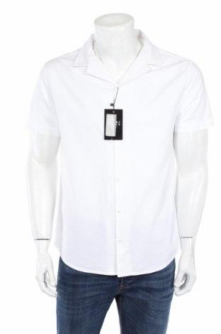 Pánska košeľa  Boohoo, Veľkosť M, Farba Biela, 98% bavlna, 2% elastan, Cena  10,53€