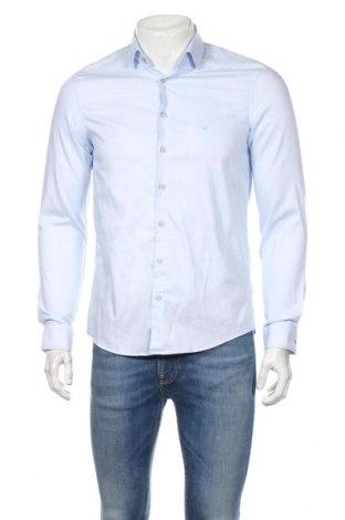 Мъжка риза Calvin Klein, Размер M, Цвят Син, Памук, Цена 69,36лв.