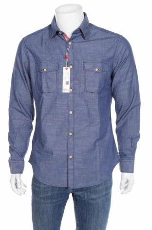 Мъжка риза Esprit, Размер M, Цвят Син, Памук, Цена 71,00лв.