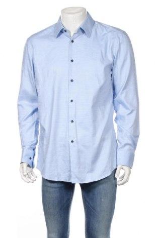 Мъжка риза Hugo Boss, Размер XL, Цвят Син, Памук, Цена 159,00лв.
