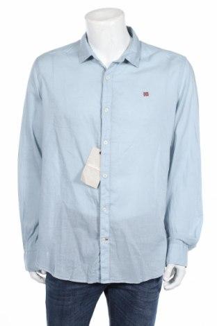 Pánska košeľa  Napapijri, Veľkosť 3XL, Farba Modrá, Bavlna, Cena  49,45€